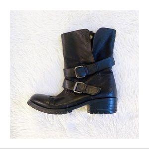 Dolce Vita Black Leather Moto Boot sz7 MINT